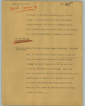 Primary view of object titled '[News Script: Spirit of 76]'.