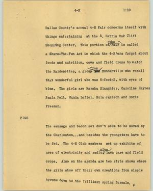 Primary view of object titled '[News Script: 4-H]'.