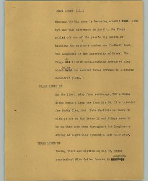 Primary view of object titled '[News Script: Frog upset]'.