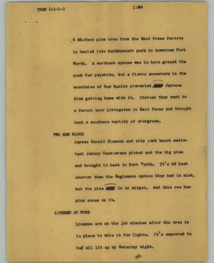 Primary view of object titled '[News Script: Tree]'.