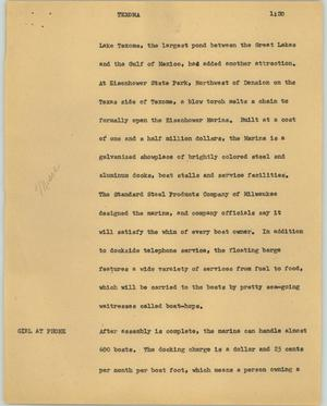 Primary view of object titled '[News Script: Texoma]'.