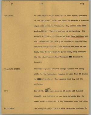 Primary view of object titled '[News Script: JPS]'.