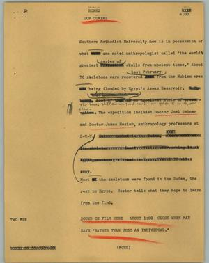 Primary view of object titled '[News Script: Bones]'.