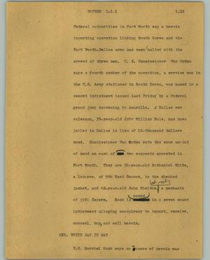 Primary view of object titled '[News Script: Dopers]'.