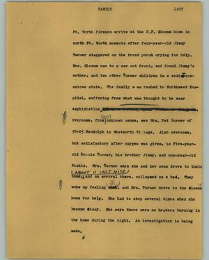Primary view of object titled '[News Script: Family]'.