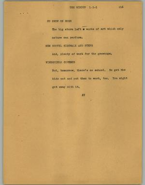 Primary view of object titled '[News Script: The windup]'.