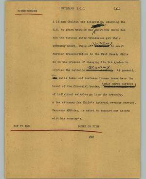 Primary view of object titled '[News Script: Chileans]'.