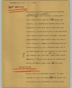Primary view of object titled '[News Script: Whalen's boy]'.