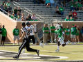Photograph: [Portland State Football Player to Catch Ball]