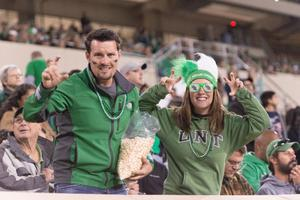Primary view of object titled '[Mean Green Fans in Apogee Stadium]'.