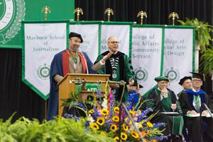 Primary view of object titled '[UNT Commencement Speakers]'.