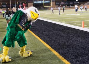 Primary view of object titled '[Scrappy the Eagle On The Field]'.