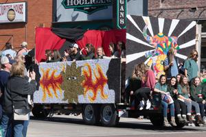 Primary view of object titled '[2014 UNT Homecoming Parade Float]'.