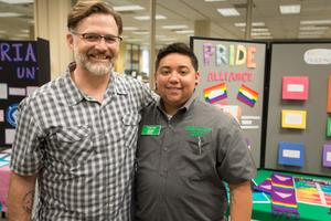 Primary view of object titled '[AJ Aguinaga, Student Assistant, UNT Pride Alliance, 2]'.