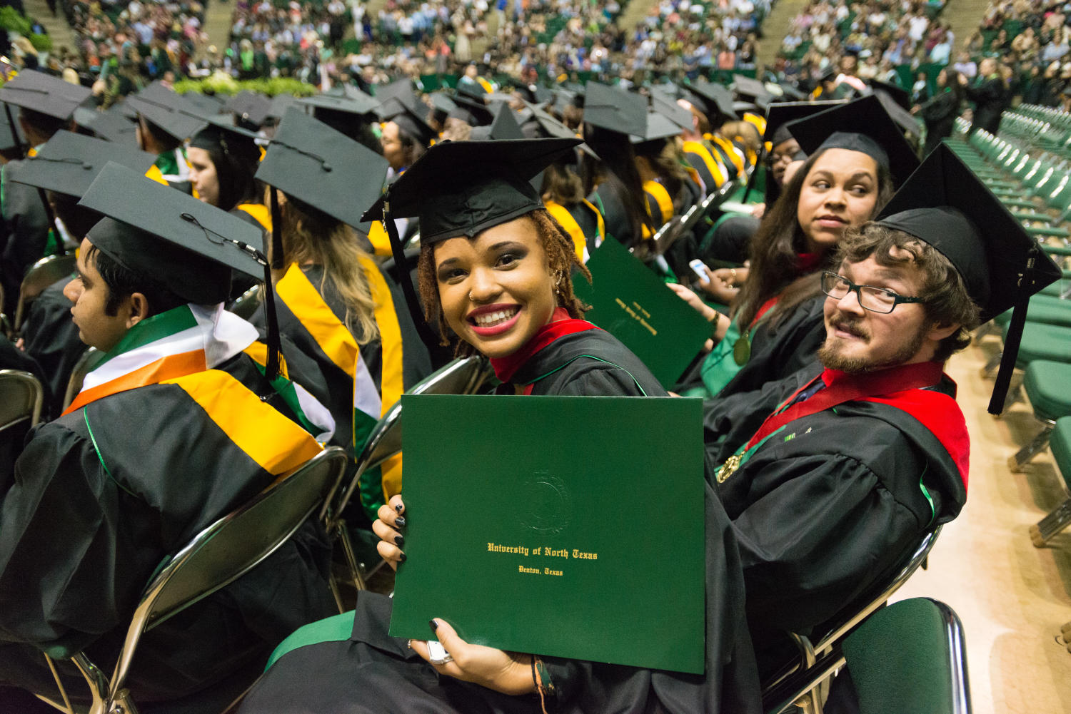 Students at UNT Commencement 2015] - The Portal to Texas History