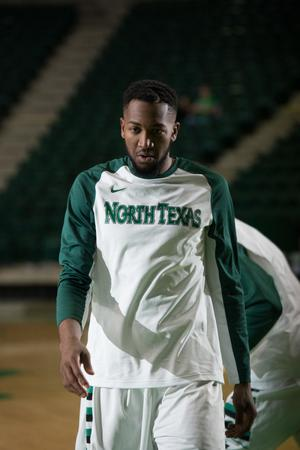 Primary view of object titled '[UNT Basketball Player Jordan Williams]'.
