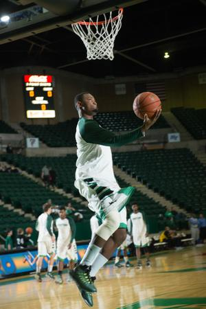 Primary view of object titled '[UNT Basketball Player Maurice Aniefiok]'.