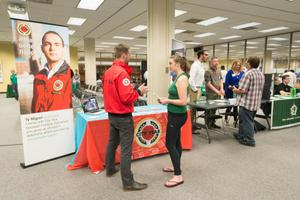 Primary view of object titled '[City Year booth at the LGBTQIA Career Fair]'.