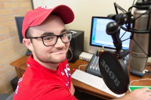 Primary view of object titled '[NTDaily Radio Personality Tyler Hicks]'.