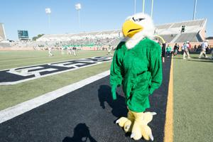 Primary view of object titled '[Scrappy the Eagle UNT's Mascot]'.