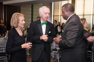Primary view of object titled '[Stanley Ingman and guests at 2014 Salute to Faculty Excellence event]'.