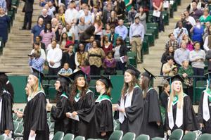 Primary view of object titled '[Fall 2014 Undergraduate Commencement Ceremony]'.