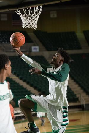 Primary view of object titled '[UNT Basketball Player Jeremy Combs]'.