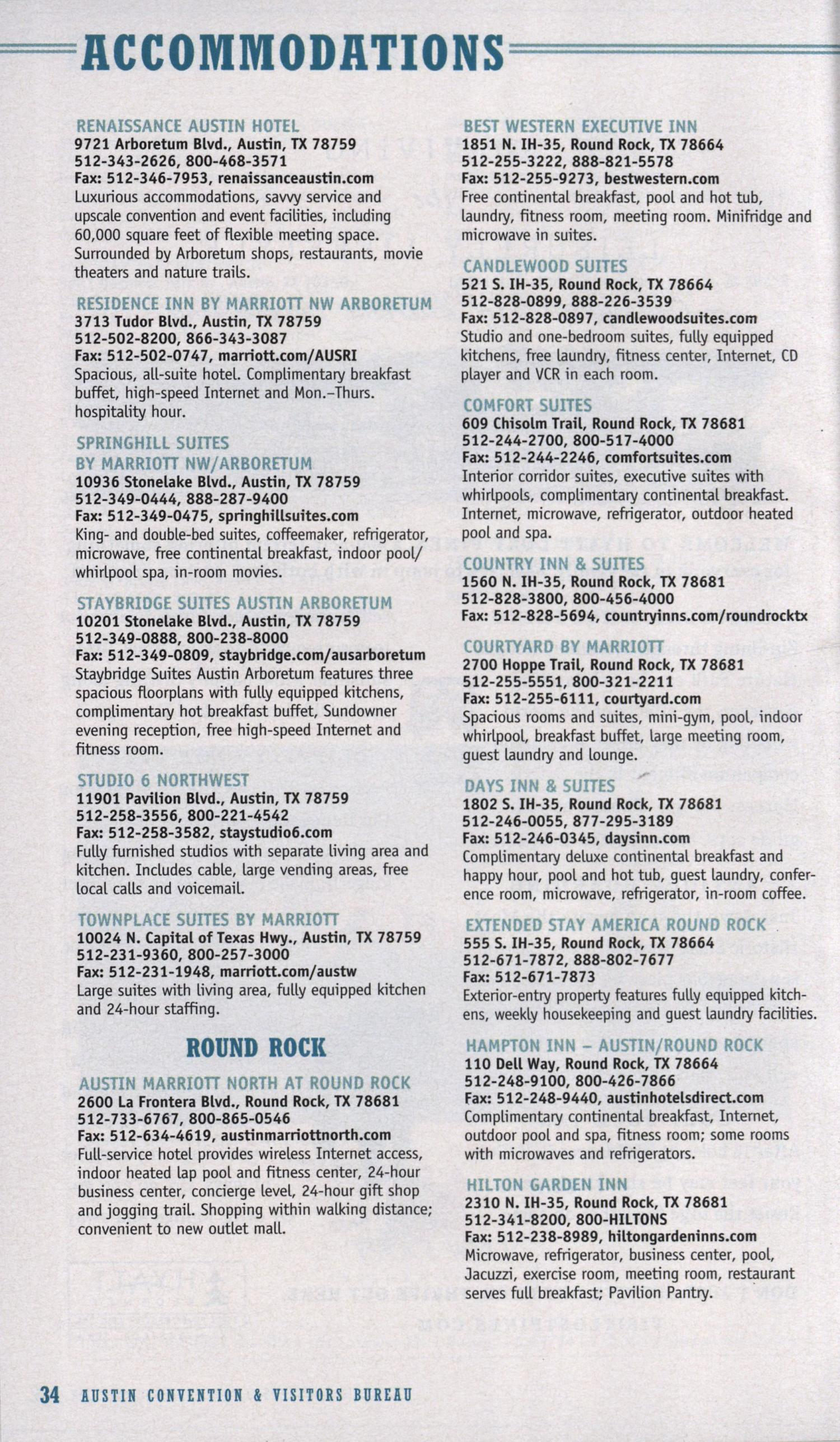 Official Visitors Guide to Austin - Page 34 - The Portal to Texas ...