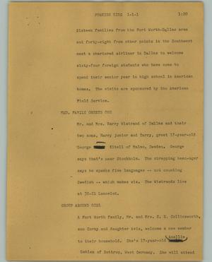 Primary view of object titled '[News Script: Foreign kids]'.