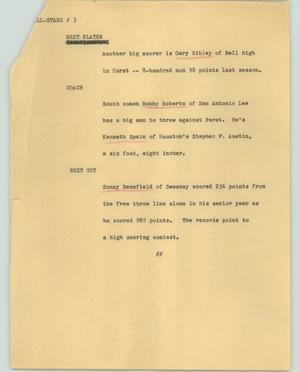 Primary view of object titled '[News Script: All stars]'.