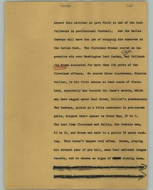 Primary view of object titled '[News Script: Browns]'.