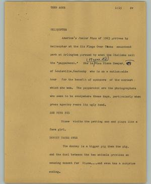 Primary view of object titled '[News Script: Teen ager]'.