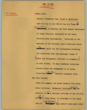 Primary view of object titled '[News Script: TMA]'.