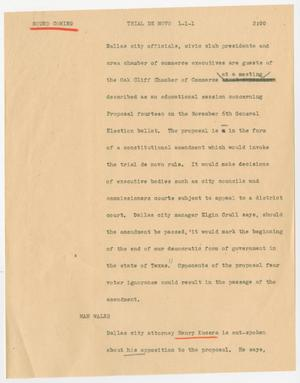 Primary view of object titled '[News Script: Trial de novo]'.