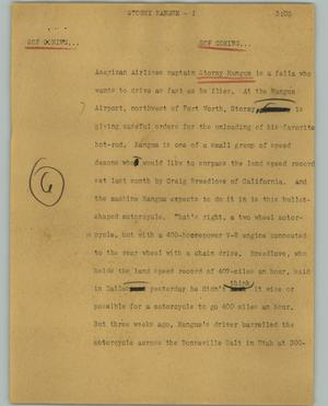 Primary view of object titled '[News Script: Stormy magnum]'.