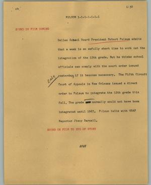 Primary view of object titled '[News Script: Folsum]'.