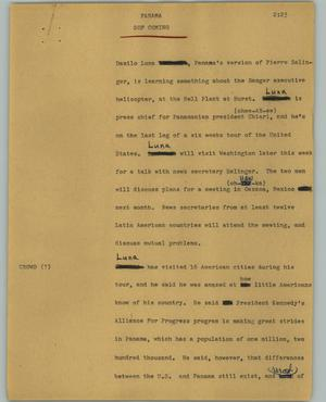 Primary view of object titled '[News Script: Panama]'.