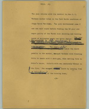 Primary view of object titled '[News Script: Trail]'.