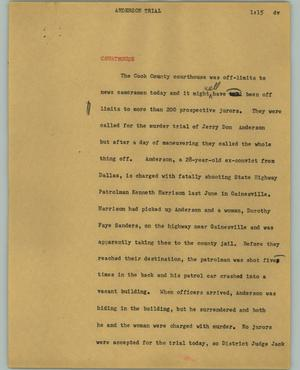 Primary view of object titled '[News Script: Anderson trial]'.