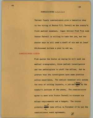 Primary view of [News Script: Commissioners]