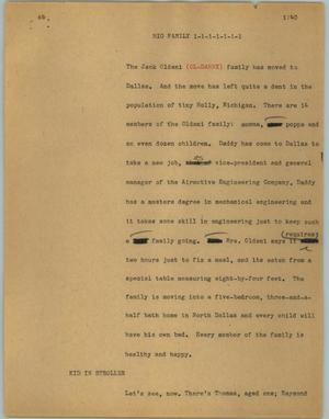 Primary view of object titled '[News Script: Big family]'.