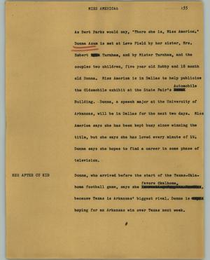 Primary view of object titled '[News Script: Miss America]'.