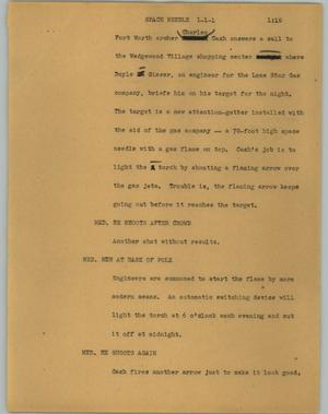 Primary view of object titled '[News Script: Space needle]'.