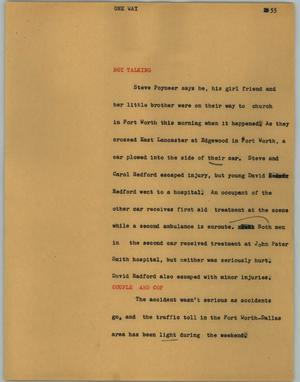 Primary view of object titled '[News Script: One-way]'.
