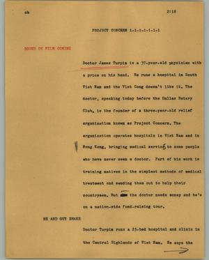 Primary view of object titled '[News Script: Project Concern]'.