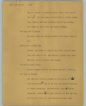 Primary view of object titled '[News Script: Ice arena]'.