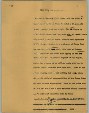 Primary view of object titled '[News Script: Miss Wool]'.