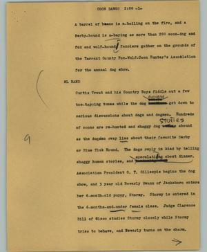 Primary view of object titled '[News Script: Coon dawgs]'.