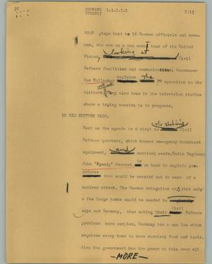 Primary view of object titled '[News Script: Germans]'.