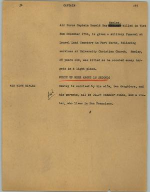 Primary view of object titled '[News Script: Captain]'.